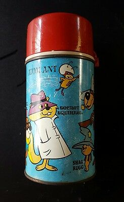 1966 Atom Ant, Morocco Mole, Squiddly Diddly, etc. Metal Thermos Bottle