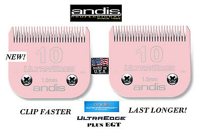 LOT 4 ANDIS UltraEdge+PLUS PET Grooming 10&7FC BLADE*Fit Most Oster,Wahl Clipper