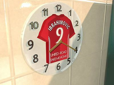 ZLATAN IBRAHIMOVIC MANCHESTER UNITED Football shirt Legend Clock LIMITED EDITION