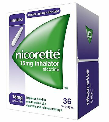 Nicorette Inhalator 15mg 36 Cartridge Pack (Expiry Date 03/2019)
