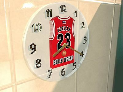 MICHAEL JORDAN CHICAGO BULLS NBA JERSEY Legends Clock - BASKETBALL LEGEND !!!!