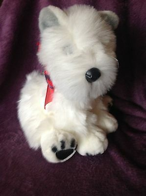 West Highland White Terrier vintage stuffed dog by Commonwealth