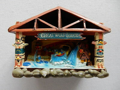 3D Souvenir Fridge Magnet  from Great Wolf Lodge the USA