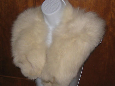 Set of Fox Fur Collar with Hat.