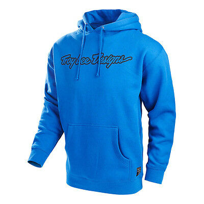Troy Lee Designs Signature Pullover Hoodie- Size LG, Blue