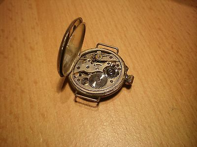 Montre dame remontoir cylindre 10 rubis silver 800