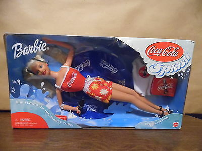 Coca Cola Splash Barbie Doll  Special Edition - NRFB She Floats On Tube