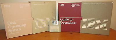 Vintage IBM Guide to Operations(6025000) and DOS (6024120) books with disks