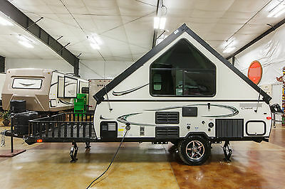 New 2017 T12RBTH A Frame Hard Side Lite Fold Down Pop Up Toy Hauler Trailer Deck