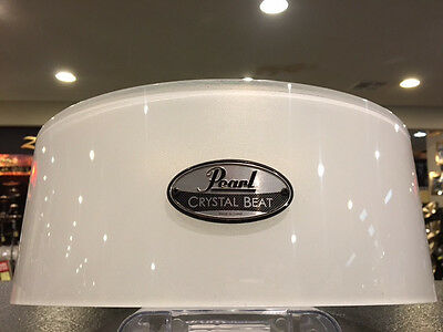 Pearl Crystal Beat Acrylic 6.5x14 Free Floating Snare Drum Shell-Frosted