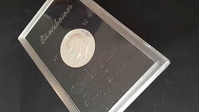 1973 's' Usa-American Eisenhower Proof Silver Dollar In Case
