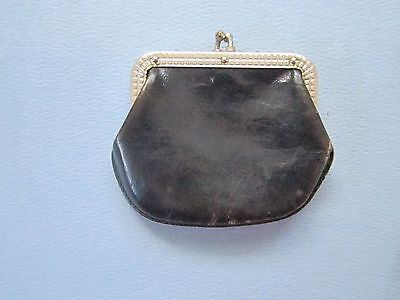 Antique/Vintage Black Leather Coin Purse