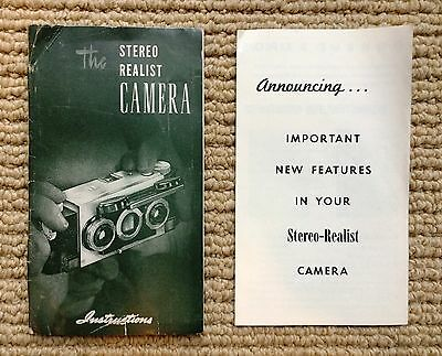 Stereo Realist Instructions & New Features Flyer ST 41 David White Vintage (2)