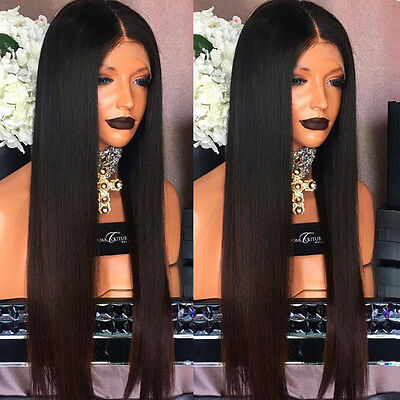 Brazilian Virgin Human Hair Silky Straight Full Lace Wigs Ombre Lace Front Wigs