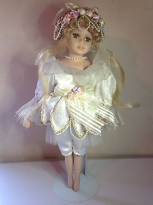 Ballerina Porcelain Doll & Stand 40cm Tall Excellent Condition