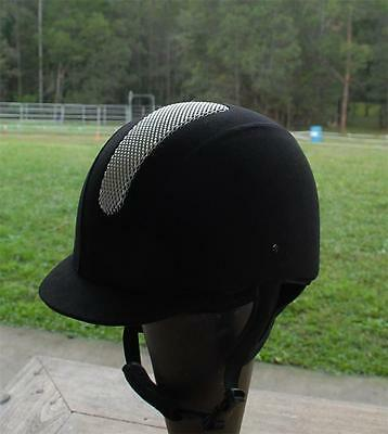 Equestrian Horse Riding Helmet Black Suede VG1.040  pony club and EA approved