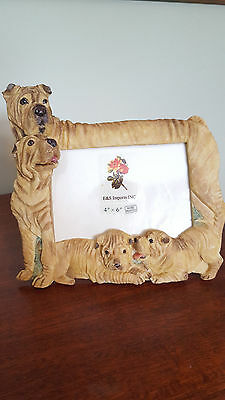 Shar Pei Dog Picture Frame New In Box Puppy