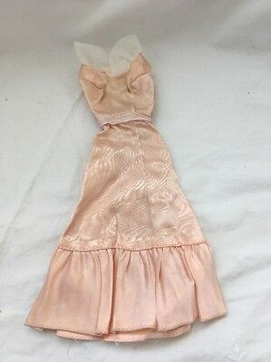 Vintage Barbie Doll Outfit BLUSH PINK Satin Gown Dress Get Up Go 9738