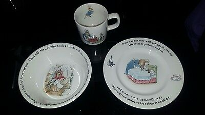 Peter Rabbit Wedgewood Plate Bowl Cup