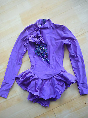 Roller/ice Skating Dress Girls Size 12-14 Purple
