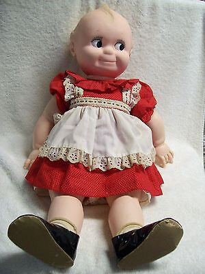 """Vintage 1965-66 Jesco Cameo Kewpie Doll 25"""" Tall with All Original Clothes"""