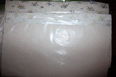 "9 pc. Miniature Dollhouse Wallpaper Sheets 20"" x 10 1/2"" In Plastic VERY PRETTY!"