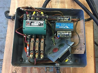 Furnas magnetic starter with control transformer 11/2-2hp 3 phase 14BF32AJ71BD