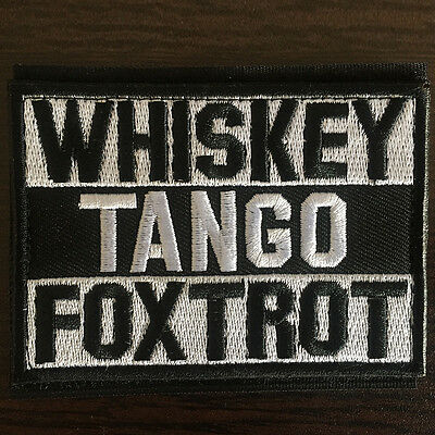 WHISKEY TANGO FOXTROT WTF USA Tactical Emblem Morale Appliques Badge Funny Patch