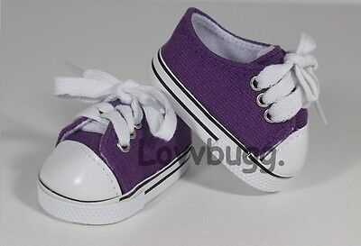 """Truly Purple Sneakers Doll Shoes for 18"""" American Girl Clothes Widest Selection"""
