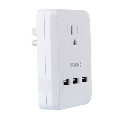 JF.EGWO Surge Protector Wall Mount Charger with 3 Wall Outlet USB 3.1A 5V Por...