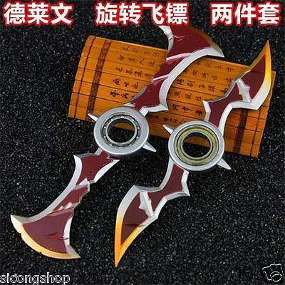 2pcs cute League of Legends Draven's weapon Rotate darts hot Gift