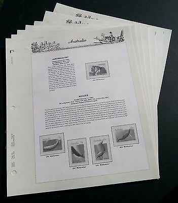 Seven Seas Hingeless Australian Supplement Pages for 1982 - NO Stamps