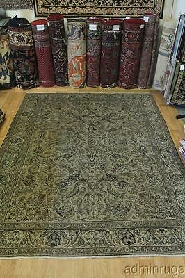 Antique Washed Muted Faded Tabriz Persian Wool Oriental Area Rug Carpet 10X13
