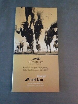 "race card-Newbury 11th Feb. 2017  ""NATIVE  RIVER""  signed"