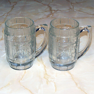 Pair Dad's Rootbeer Heavy Glass Mugs