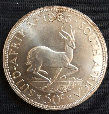 1963 South Africa 50 Cents aUNC++++ Silver Crown (ProofLike).....