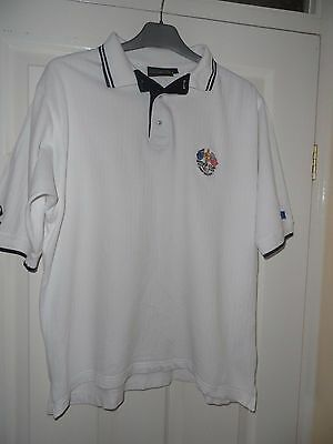 Mens Glenmuir White Ryder Cup The Belfry 2001 Polo Shirt Large