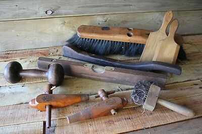 Bulk Vintage Old Tools Zev Hair Broom Gage Melbourne Spigot Barrel Plane