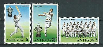 Antigua SG466-468 1975 World Cup Cricket Winners Unhinged Mint