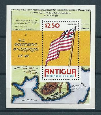 Antigua SG MS494 1976 Bicentenary of  American Revolution M/S Unhinged Mint