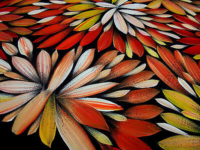 LOUISE NUMINA 143 x 54 cm Original Painting - Aussiepaintings Aboriginal Art