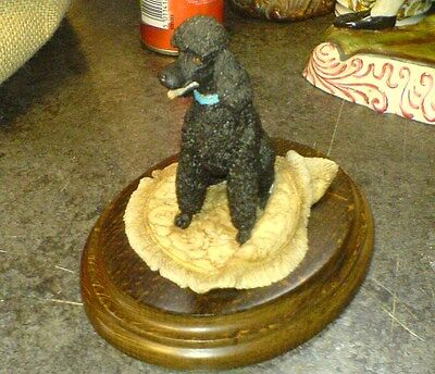 "POODLE - BLACK - COUNTRY ARTIST # CA 337 - K. SHERWIN - 4.5"" high"