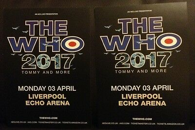The Who - Liverpool 2017 flyers