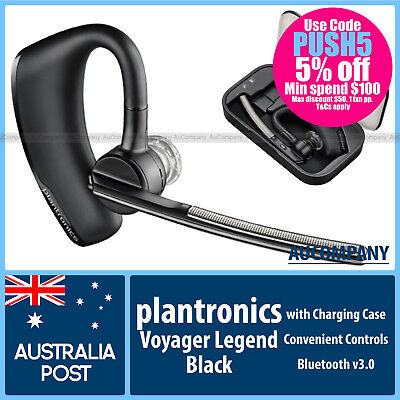 Plantronics Voyager Legend Bluetooth 3.0 Mobile Headset with Charging Case Black