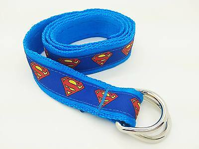 Boy's Superman Belt Handmade Blue 85cm