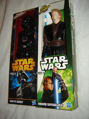 Star Wars Darth Vader & Anakin Skywalker Action Figures 12 Inches Tall