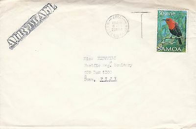 D 77 Apia Samoa 1989 air cover to Fiji; 50s  solo bird stamp rate