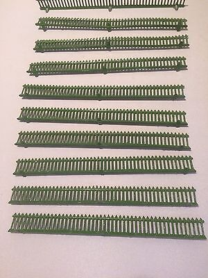 Ten Metal Green Fences For Oo Railway Trains Fencing Scenery Farm Layout