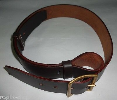 1903 Pattern Belt Light Horse Mounted Pattern Wwi Dark Brown Leather Replica
