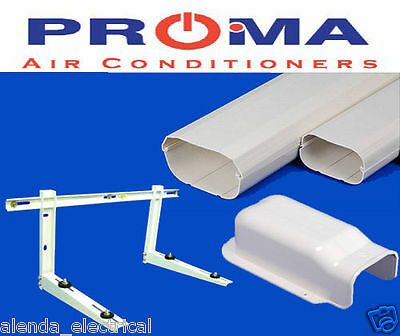 New Air Conditioner Wall Duct Cover KIT + Wall Bracket Duct Split System 100mm